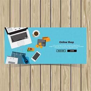 Design Online Shop : online shopping banner design vector free download ~ Watch28wear.com Haus und Dekorationen