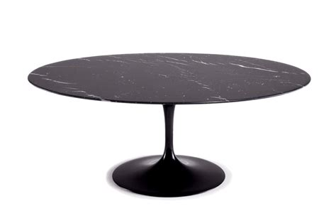 saarinen coffee table nero marquina marble hivemodern com