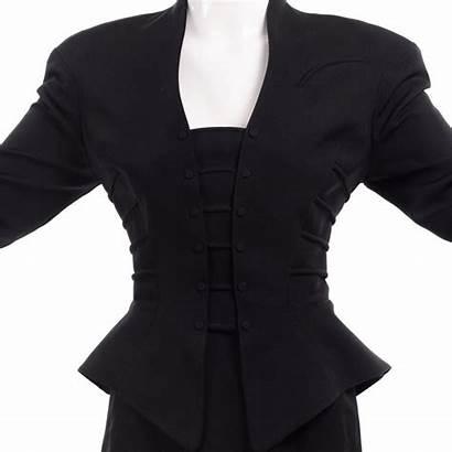 Peplum Suit Skirt Pencil Jacket Mugler Thierry