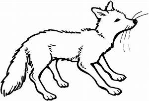 Fox Clip Art Image Black And White【2018】