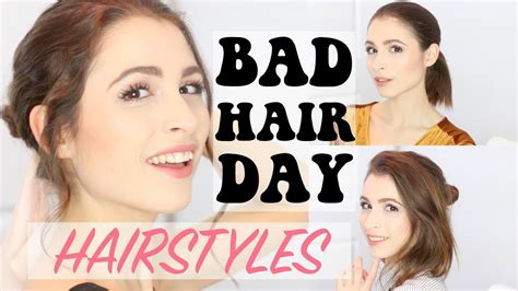 3 easy hairstyles for bad hair days youtube