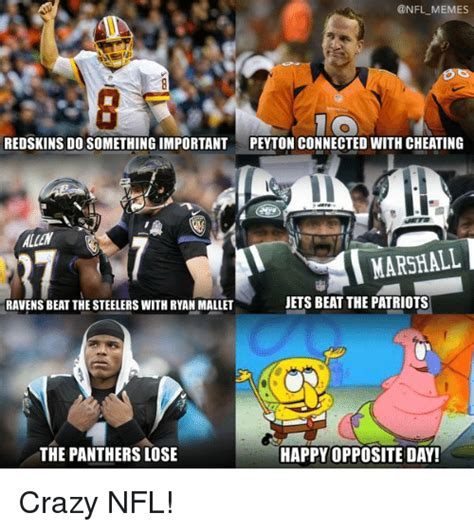Steelers Vs Ravens Meme - memes redskins do something important peyton connected with cheating marshall jets beat the