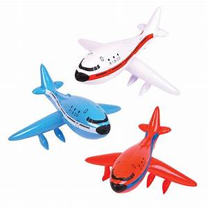 Inflatable Planes Choice of 3 Blow Up Toy Vehicles