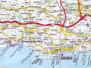 Albufeira Algarve Portugal Map