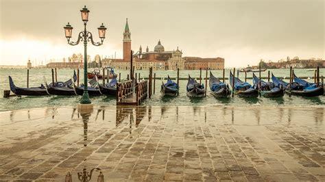 full hd wallpaper gondola berth san giorgio maggiore