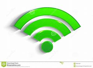 Modern Green Paper WiFi Symbol With Shadow Royalty Free ...