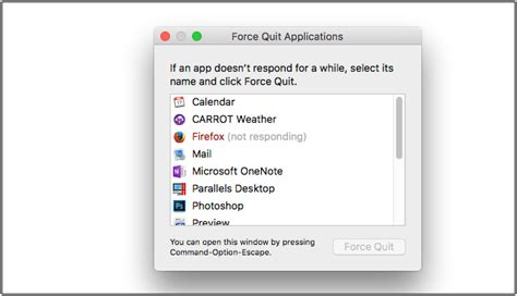 Application Not Responding Mac How To Force Quit Applications On Your Mac When App Not