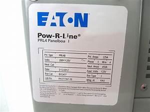 Eaton Prl4b Pow 120 Vac 3 Ph Cutler Hammer 225 Amp Breakers