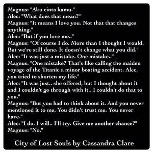 Alexander 'Alec' Lightwood and Magnus Bane (City of Lost ...