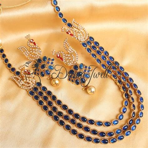 What Are Bed Curtains by Buy Gorgeous Blue Kemp Peacock Mugappu Necklace Set