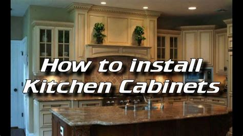 how to hang cabinets how to install kitchen cabinets installing kitchen