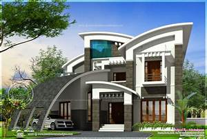 Luxury Ultra Modern House Design Kerala Home Floor Plans ...