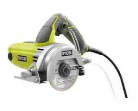 new ryobi 4 inch handheld wet tile saw cutting diamond