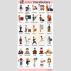 List Of Jobs And Occupations  English  Vocabulary  English Vocabulary, Learn English E