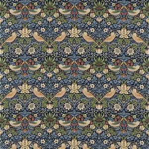 Strawberry Thief Fabric - Indigo/Mineral (220313