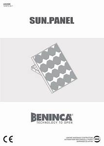 Beninca Sun Panel Solar Panel User Guide
