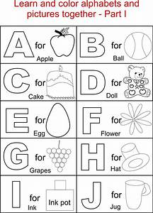 alphabet part i coloring printable page for kids With kids abc letters