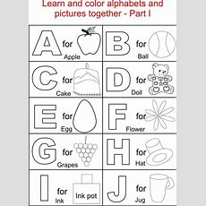 Alphabet Part I Coloring Printable Page For Kids Alphabets Coloring Printable Pages For Kids