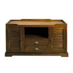 meuble tv 140 cm meuble tv en teck massif l 140 cm key largo maisons du monde