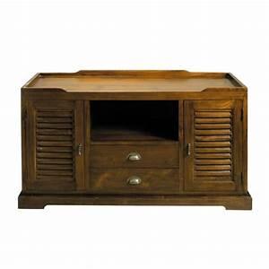 Meuble Tv Maison Du Monde : meuble tv en teck massif l 140 cm key largo maisons du monde ~ Teatrodelosmanantiales.com Idées de Décoration
