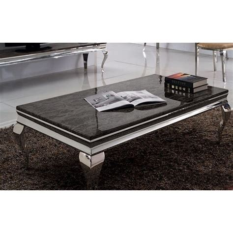 canapé cuir 7 places table basse baroque duchesse en marbre et inox pop design fr