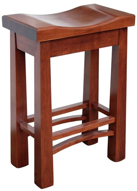 saddle stool hudson stools cherry wooden furniture comfortable stain s14 decorationchannel