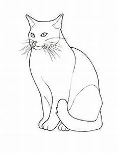 cat outline Adult Colouring~Cats~Dogs ~Zentangles
