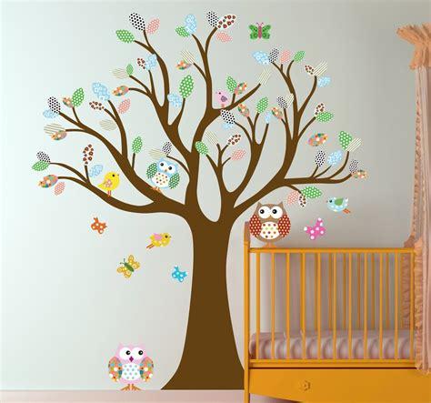 Kinderzimmer Gestalten Eulen by Baum Mit Eulen Aufkleber Kinderzimmer Bild