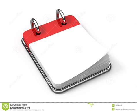 calendrier sur le bureau calendrier de bureau blanc sur le blanc illustration stock
