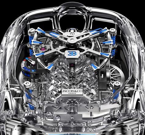 54mm x 44mm case material: Bugatti Chiron Tourbillon Sapphire Crystal | Jacob & Co