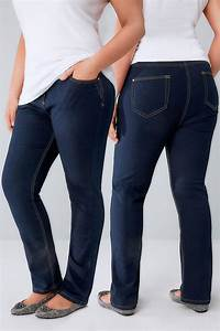 Indigo Straight Leg 5 Pocket Denim Ruby Jeans Plus Size 14