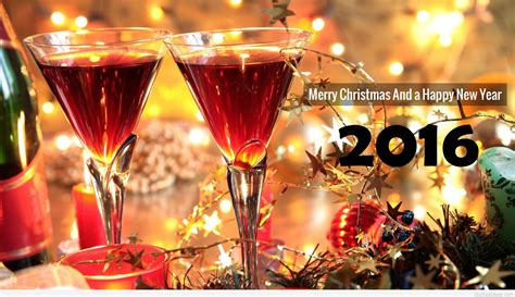 merry and a happy new year quote wallpaper hd 2016