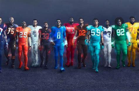 nfl   teams  opt   wearing garish color
