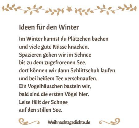Wintergedichte  Gedichte Für Die Winterzeit