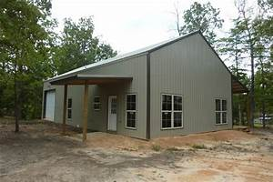 one man 80000 this awesome 30 x 56 metal pole barn home 25 With 30 x 56 pole barn