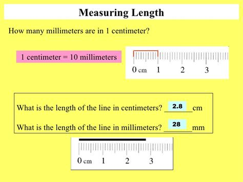 Metric System Measuring Length 5 Measuring Length How Many Millimeters Are In 1 Centimeter