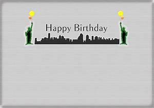 Happy Birthday Card - New York City - Statue Of Liberty 2 ...