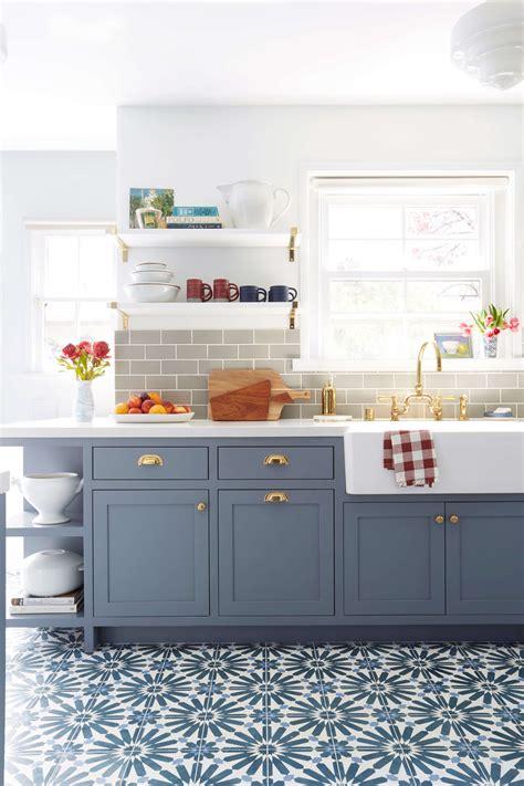 blue kitchen tiles ideas 9 kitchen flooring ideas blue gray kitchens concrete