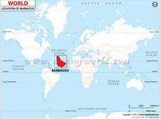 Where is Barbados located? Location map of Barbados