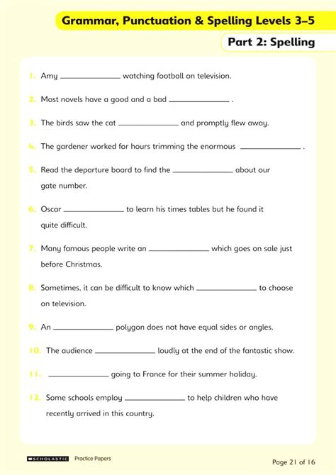 Free Grammar Practice Worksheets Chapter 2 Worksheet Mogenk Paper Works