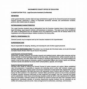 Executive assistant job description template 8 free for Executive administrative assistant job description template