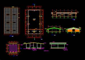 Plans Warehouse  In Autocad