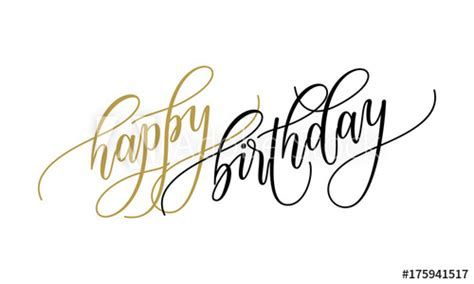 happy birthday greeting card calligraphy lettering