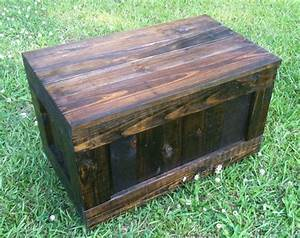 Rustic reclaimed trunk reclaimed rustic toy box reclaimed for Dark wood trunk coffee table