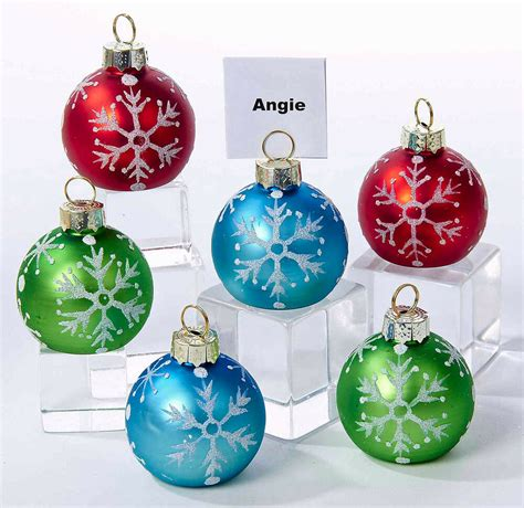 Christmas Decorations Glass Snowflake Ornament Place