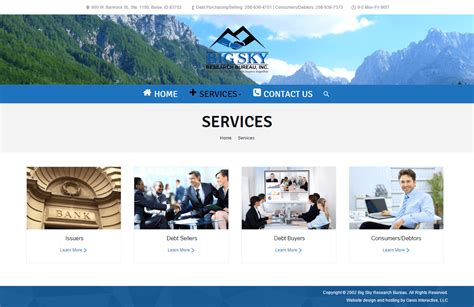web bureau website redesign big sky research bureau oasis