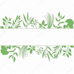 Bilder Mit Weißem Rahmen : gr nes rechteck rahmen mit sammlung von pflanzen silhouette der zweige die isoliert auf wei em ~ Indierocktalk.com Haus und Dekorationen