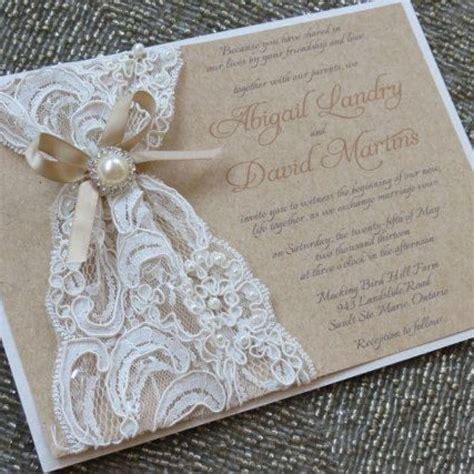 fabulous diy lace wedding invitation kits with diy lace