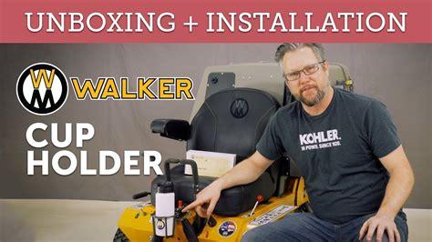 cup holder walker mower