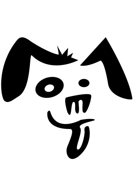 dog face  printable coloring pages